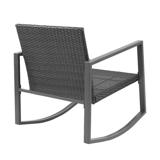 Contemporary Outdoor Rocking Chair Set - Slate Grey | FREE DELIVERY - OzChairs.com.au™