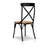 Set of 2 Metal Crossback Dining Chairs - Black | FREE DELIVERY - OzChairs.com.au™