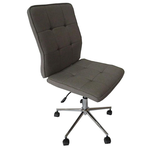 Classic Fabric Gas Lift Office Chair - Dark Grey | FREE DELIVERY - OzChairs.com.au™
