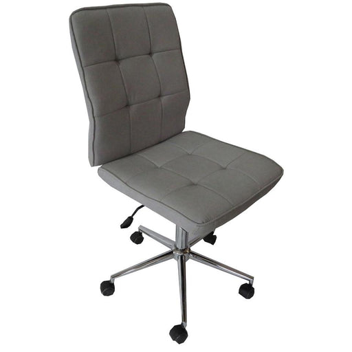 Classic Fabric Gas Lift Office Chair - Light Grey | FREE DELIVERY - OzChairs.com.au™