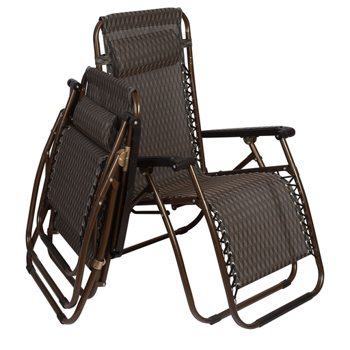 2 x Outdoor Lounge Chairs - Bronze | FREE DELIVERY - OzChairs.com.au™