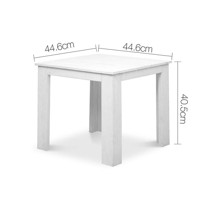 3 Piece Solid Timber Foldable Adirondack Chairs & Side Table - White | FREE DELIVERY - OzChairs.com.au™