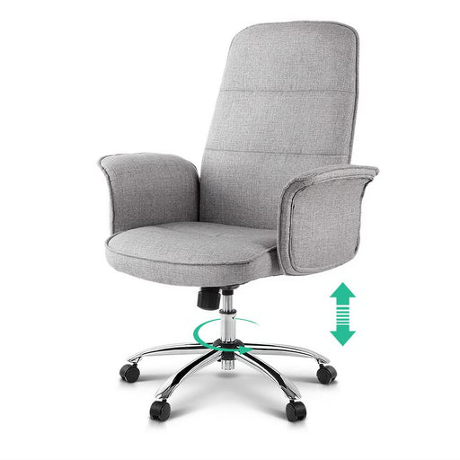 Executive Fabric Office Chair - Grey | FREE DELIVERY - OzChairs.com.au™