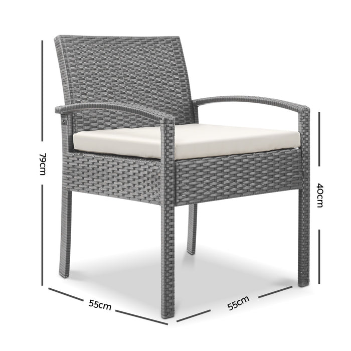 Magnificent Premium Outdoor Wicker Bistro Chair Warm Grey Free Delivery Onthecornerstone Fun Painted Chair Ideas Images Onthecornerstoneorg