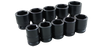 10 Pieces 6 Pocket Standard SAE Impact Socket Set
