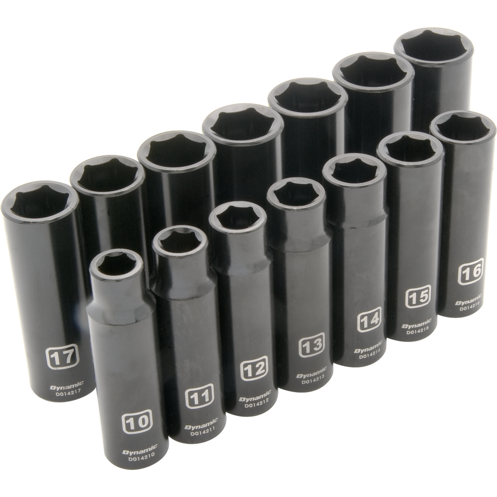 14 Piece 6 Point Deep Impact Metric Socket Set Part No. D018022
