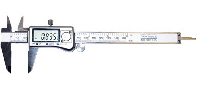"0-6"" Digital Calipers - Stainless Steel Housing DC6150"