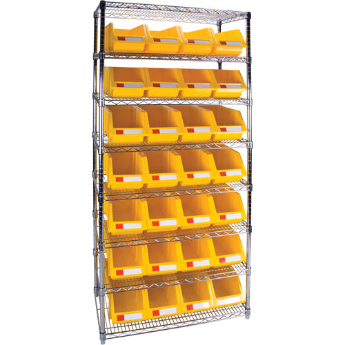 Heavy-Duty Wire Shelving Units with Storage Bins RL816
