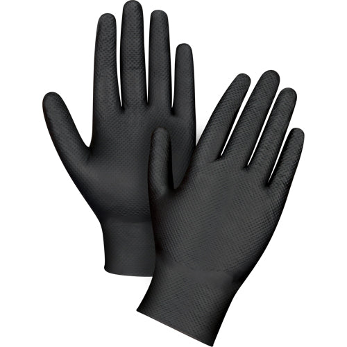 "Heavyweight Black Nitrile Gloves Large size 9.5"" latex and powder free (pkg 50) SEK263"