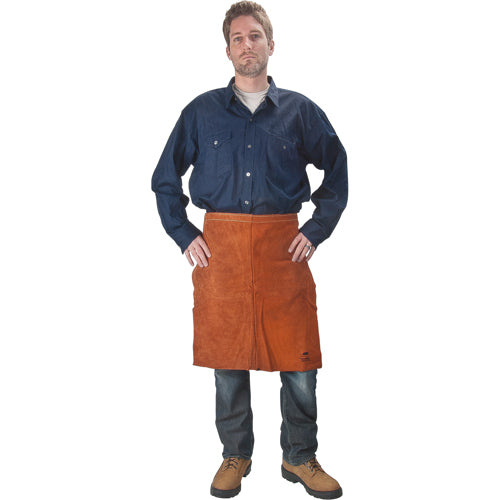 Lava Brown Leather Waist Apron  TTU392