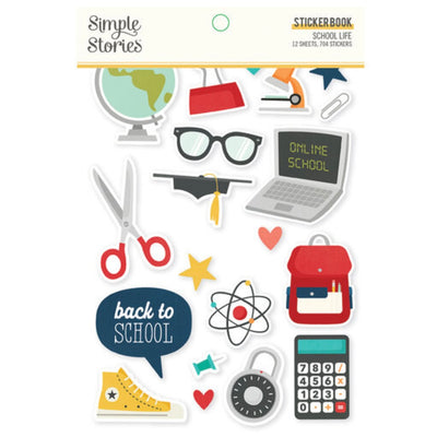 School Life Sticker Book