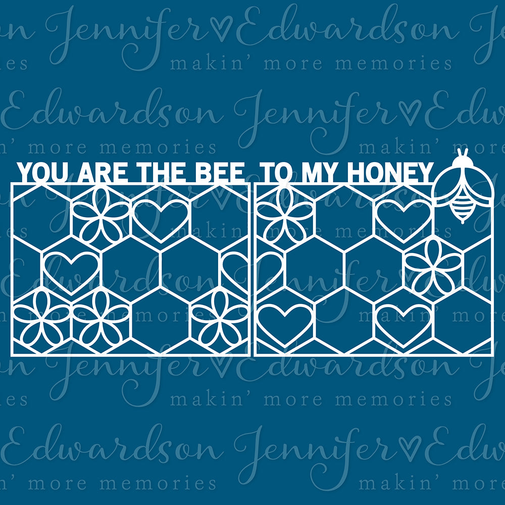 Double Page Cut File - Honey Bee Title