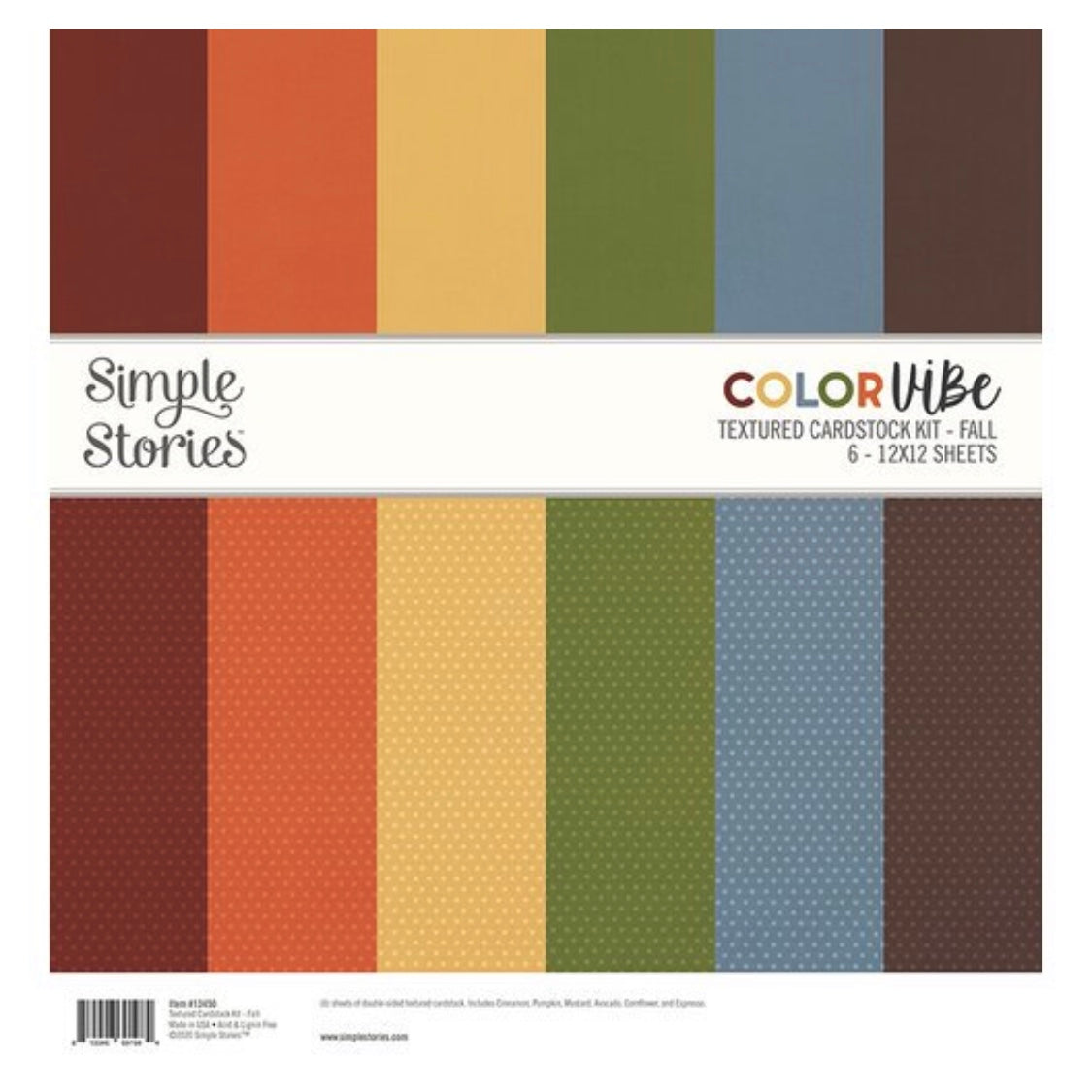 Color Vibe Textured Cardstock - FALL