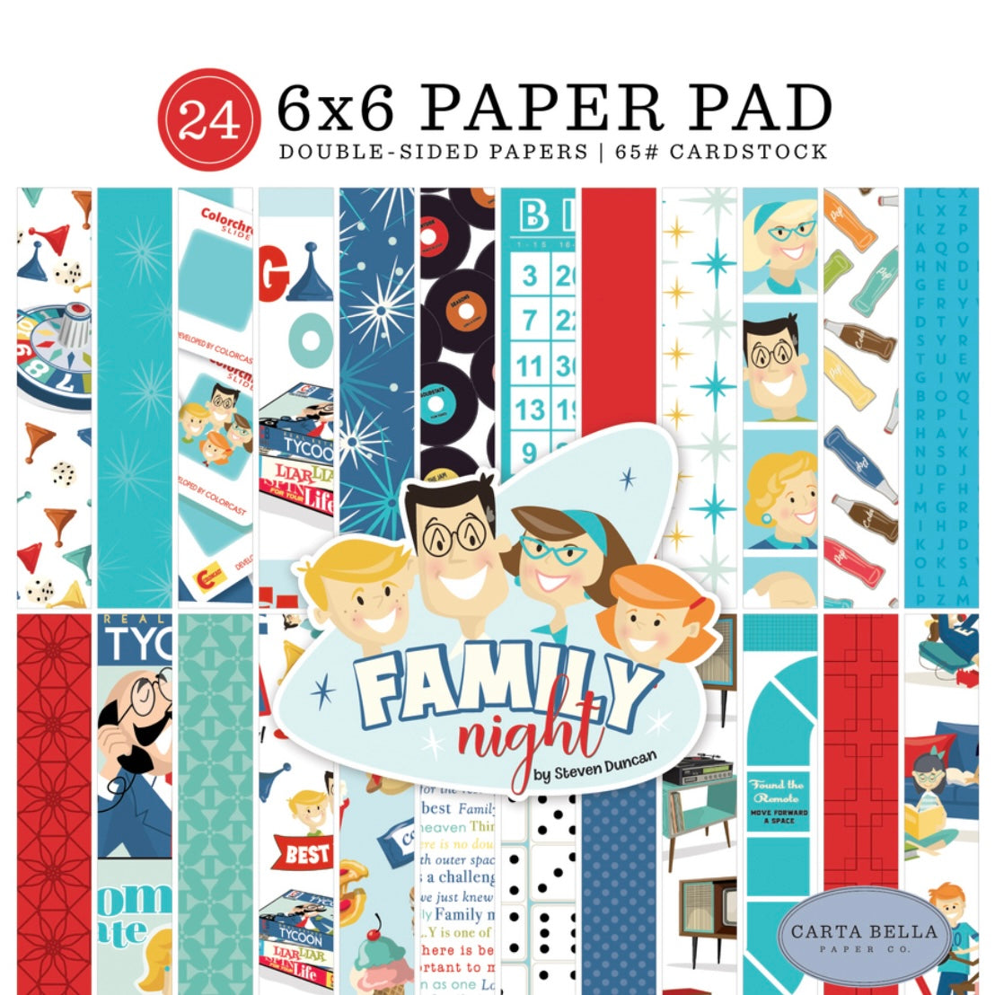 Family Night 6x6 Paper Pad