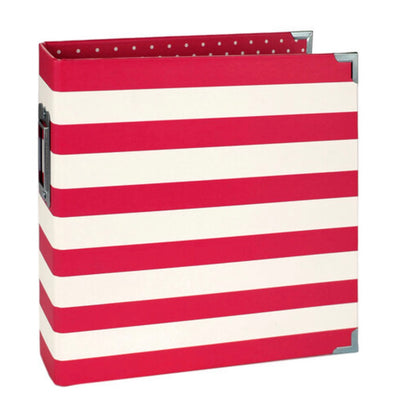 "6 x 8"" SNAP Album - Red Stripe"