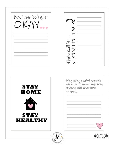 COVID-19 Journal Cards