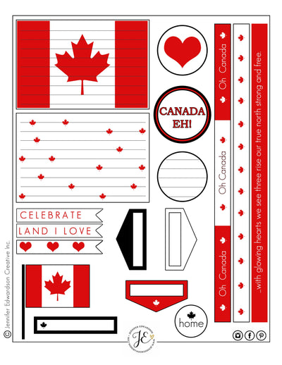 Canada Day Tag Printable