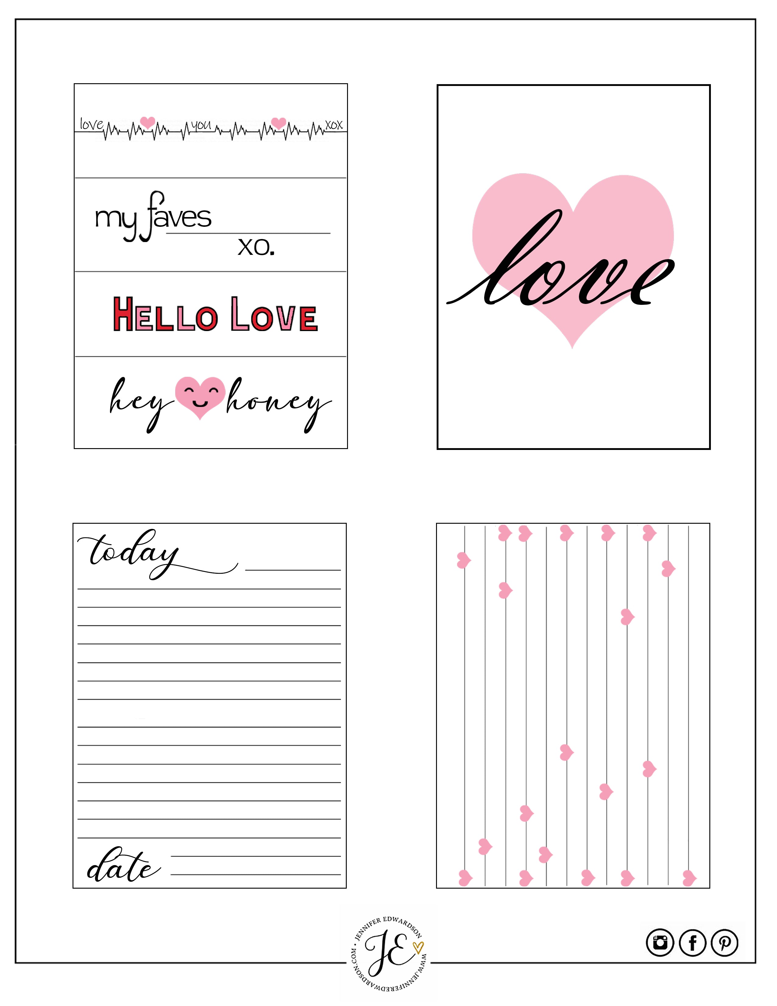 'Love You more' Journal Cards