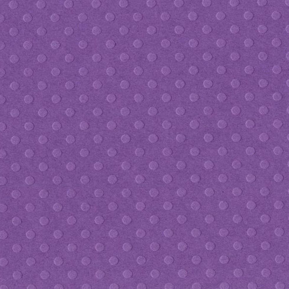 Dotted Swiss Cardstock - Grape Jelly