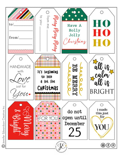 Holiday 'GIVING' Tags 1 - 2020