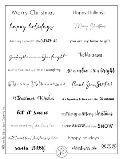 Holiday Phrases  - Blk/Wht