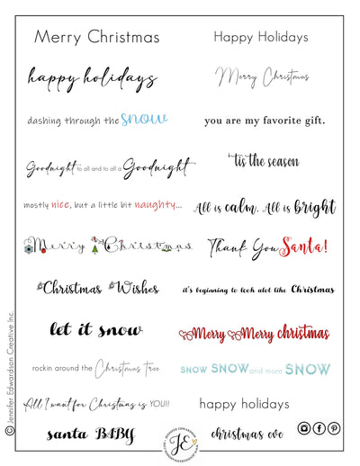 Holiday Phrases - Color