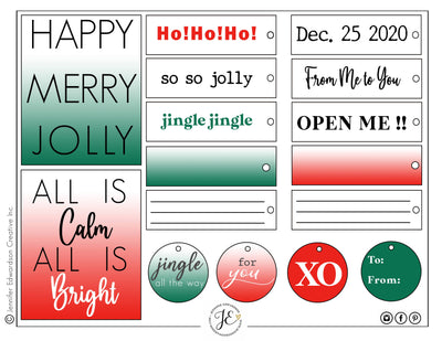 Holiday 'GIVING' Tags 2 - 2020