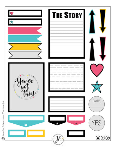 Bright and Bold Tag Sheet