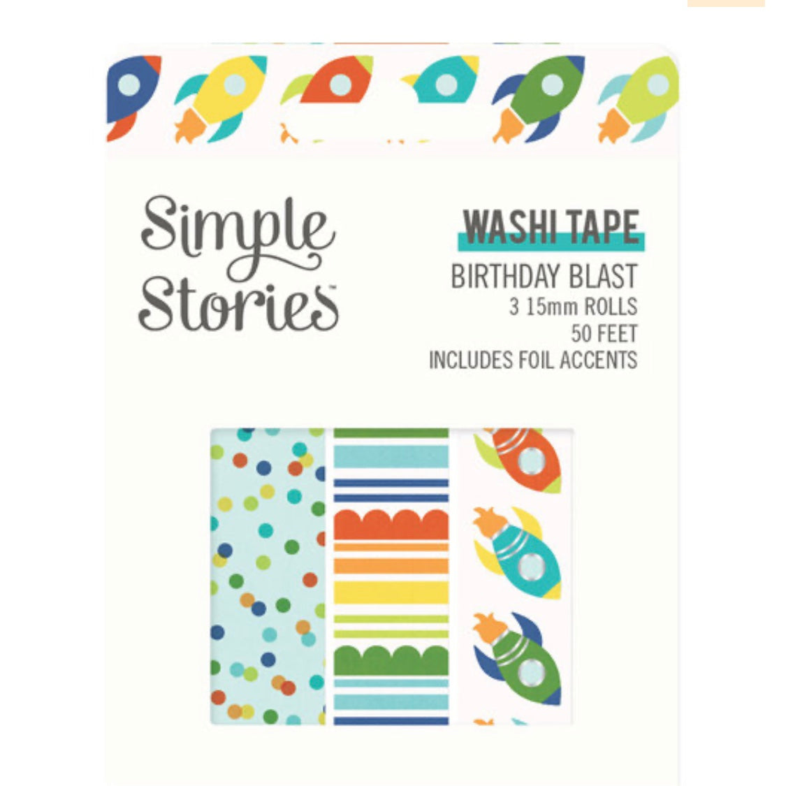 'Birthday Blast' Washi Tape