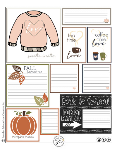 Fall Printable - Cards & Tags