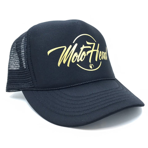 Moto Head Gold Trucker Hat