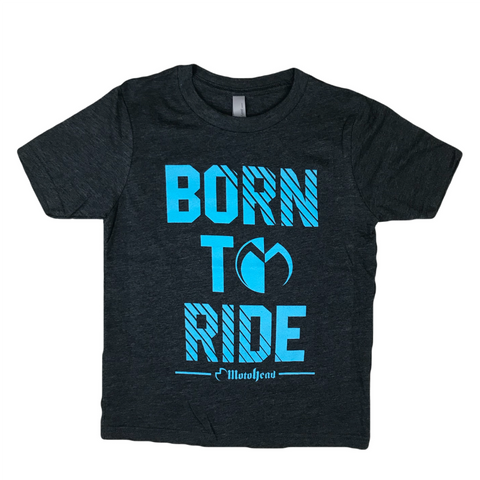 Moto Head Born To Ride Youth Tee