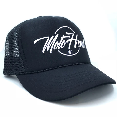 Moto Head Trucker White Hat