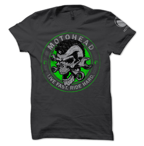 Moto Head Skulled Tee