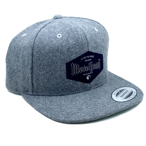 Moto Head Live to Ride Snapback Grey