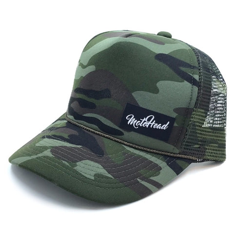 Moto Head Camo Trucker Hat