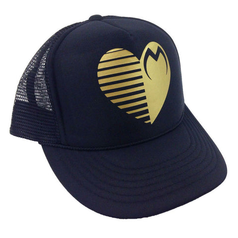 Moto Head Black Gold Women's Trucker Hat