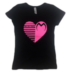 Moto Head Heart Black Tee
