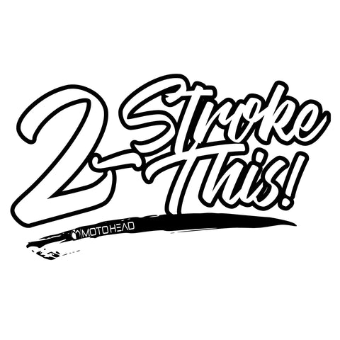Moto Head 2 Stroke This Decal
