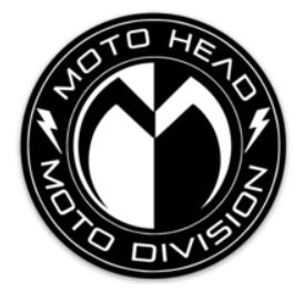 Moto Head Division Decal