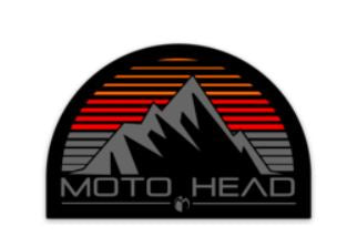 Moto Head Mountains Decal