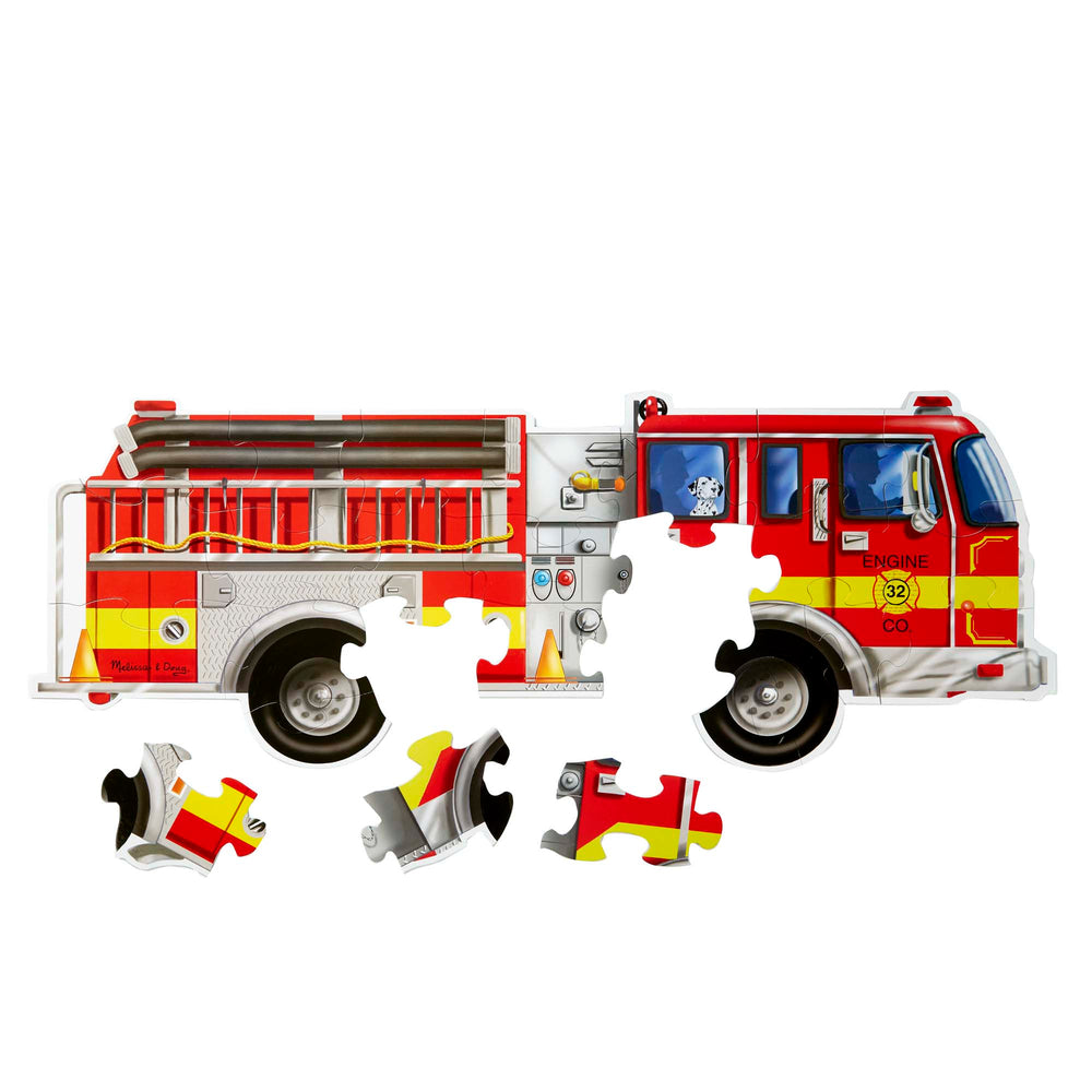 Load image into Gallery viewer, Giant Fire Truck Floor Puzzle