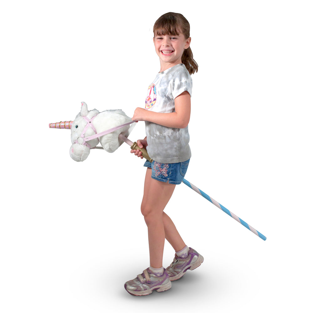 Load image into Gallery viewer, Prance-N-Play Stick Unicorn