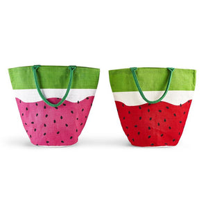 Load image into Gallery viewer, Watermelon Jute Bucket Bag
