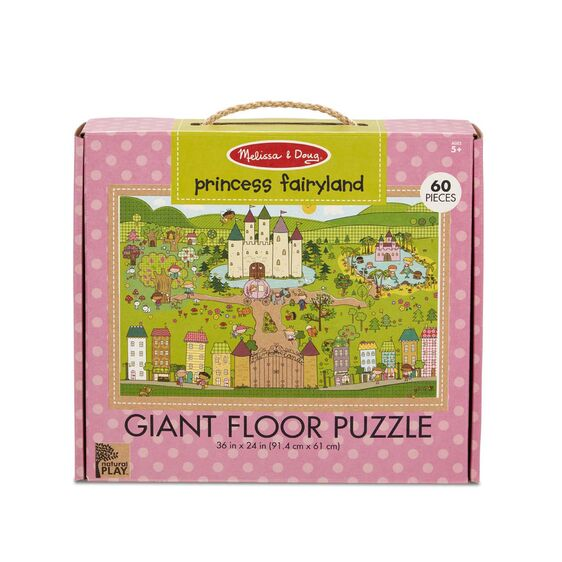 Load image into Gallery viewer, Natural Play Floor Puzzle: Princess Fairyland