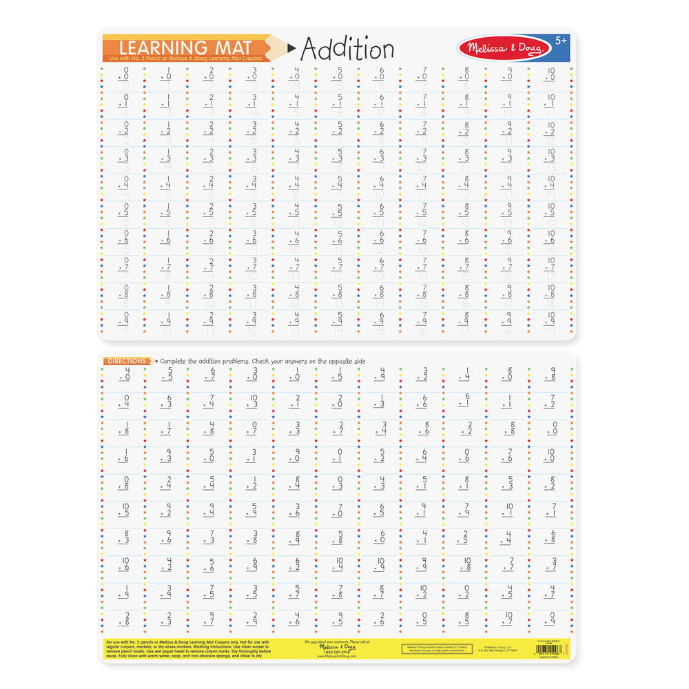 Addition Learning Mat Placemat