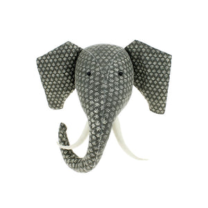 Grey Print Elephant Head