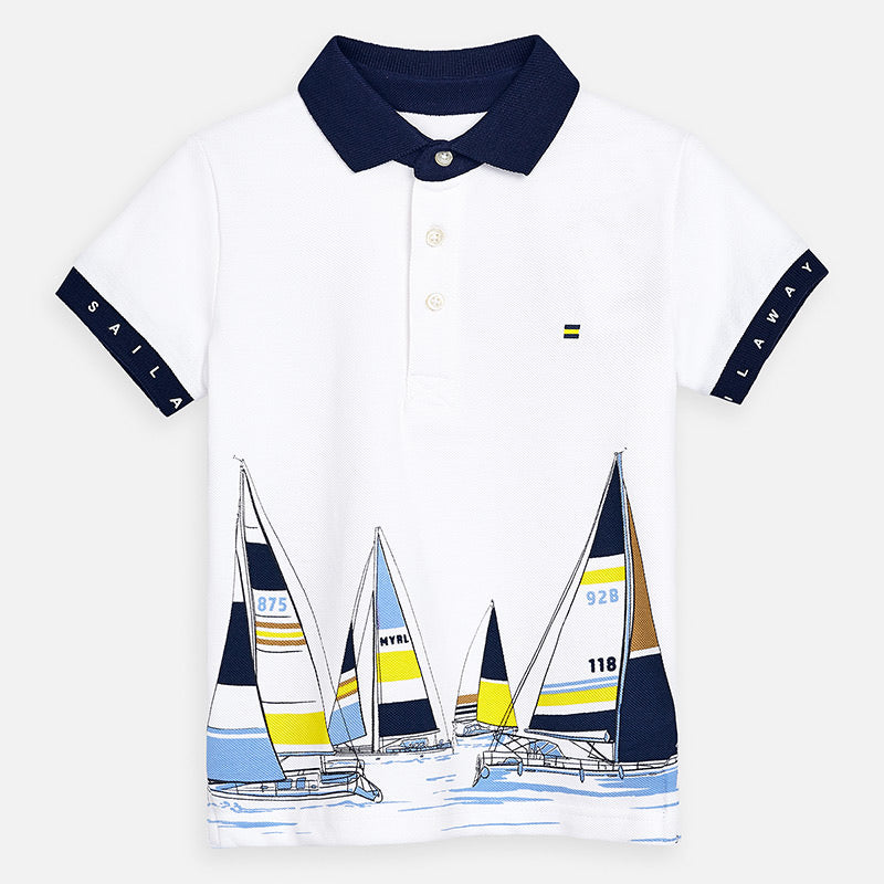 Short Sleeve Sailboat Polo