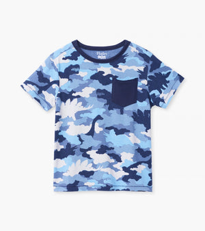 Dino Camo Graphic Front Pocket Tee