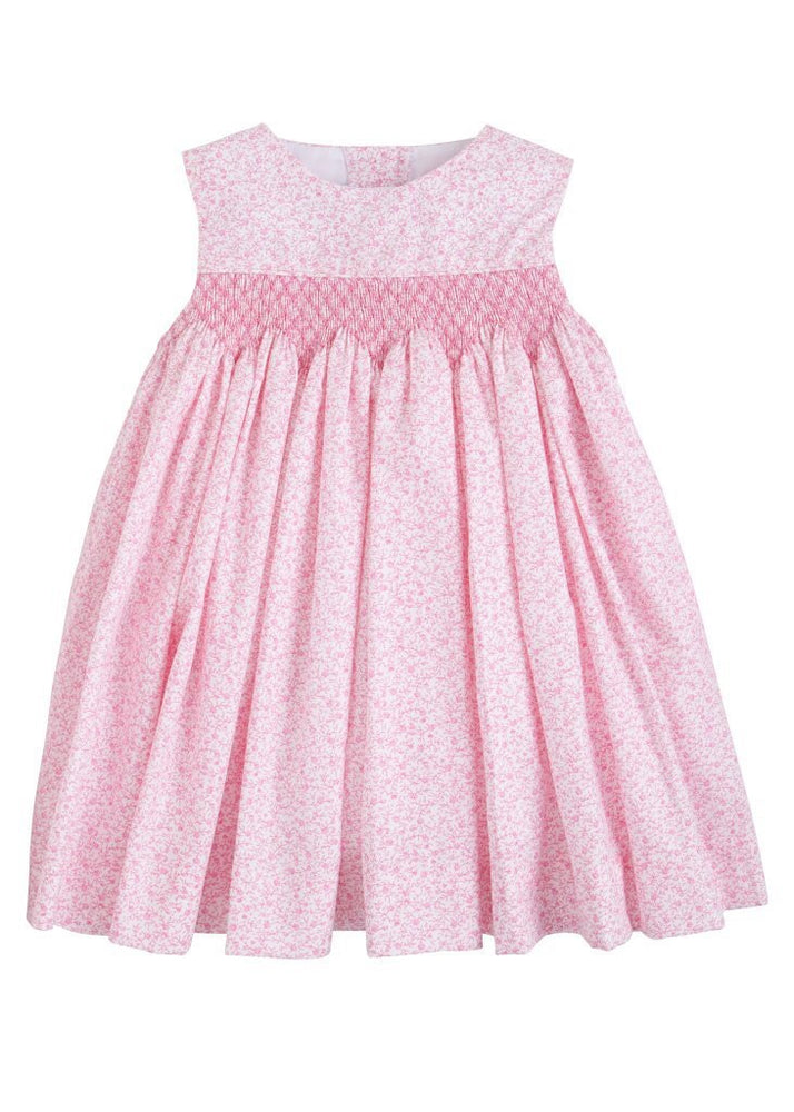Pink Simply Smocked Dress